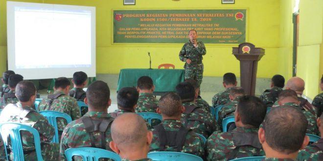 SOSIALISASI, NETRALITAS, TNI